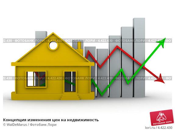 Купить «Концепция изменения цен на недвижимость», иллюстрация № 4422430 (c) WalDeMarus / Фотобанк Лори