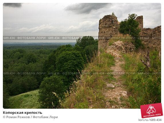 Купить «Копорская крепость», фото № 689434, снято 13 июля 2008 г. (c) Роман Рожков / Фотобанк Лори