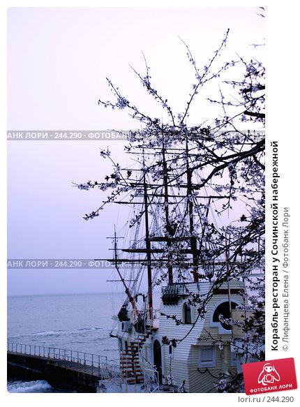 Корабль-ресторан у Сочинской набережной, фото № 244290, снято 23 марта 2008 г. (c) Лифанцева Елена / Фотобанк Лори