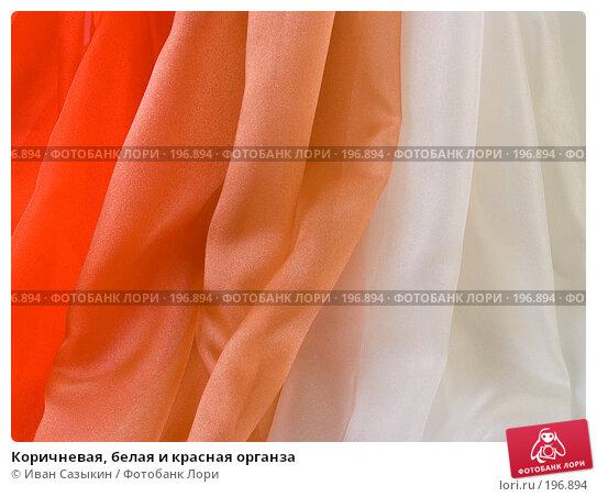 Коричневая, белая и красная органза, фото № 196894, снято 22 октября 2004 г. (c) Иван Сазыкин / Фотобанк Лори