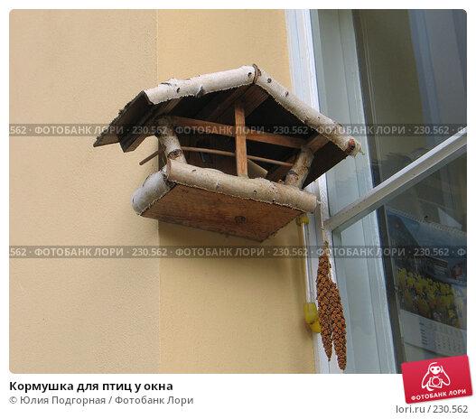 Кормушка для птиц у окна, фото № 230562, снято 20 марта 2008 г. (c) Юлия Селезнева / Фотобанк Лори