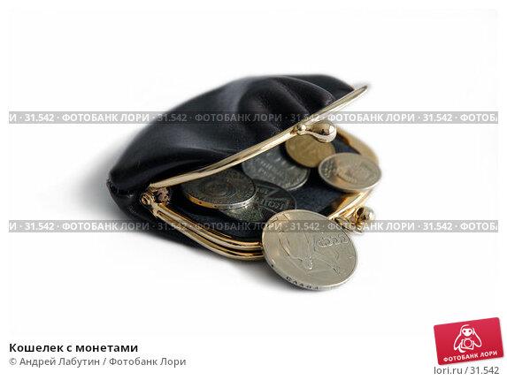 Кошелек с монетами, фото № 31542, снято 8 апреля 2007 г. (c) Андрей Лабутин / Фотобанк Лори