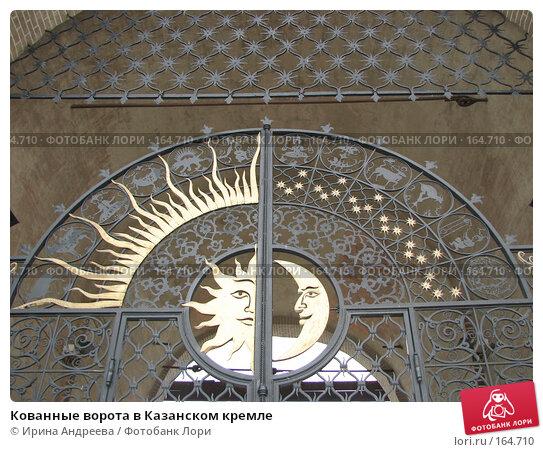 Кованные ворота в Казанском кремле, фото № 164710, снято 16 августа 2006 г. (c) Ирина Андреева / Фотобанк Лори