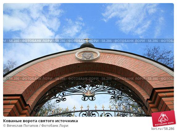Кованые ворота святого источника, фото № 58286, снято 29 апреля 2007 г. (c) Вячеслав Потапов / Фотобанк Лори