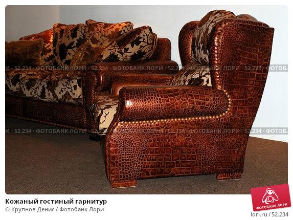 Купить «Кожаный гостиный гарнитур», фото № 52234, снято 18 апреля 2007 г. (c) Крупнов Денис / Фотобанк Лори