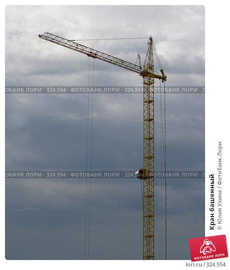 Купить «Кран башенный», фото № 324554, снято 8 июня 2008 г. (c) Юлия Ухина / Фотобанк Лори
