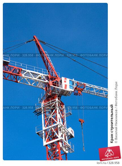 Кран строительный, фото № 328958, снято 8 июня 2008 г. (c) Василий Нижников / Фотобанк Лори