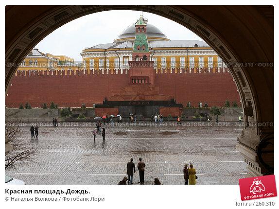 Купить «Красная площадь.Дождь.», эксклюзивное фото № 260310, снято 20 апреля 2008 г. (c) Наталья Волкова / Фотобанк Лори