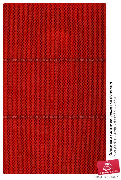 Красная защитная решетка колонки, фото № 197818, снято 7 февраля 2008 г. (c) Андрей Никитин / Фотобанк Лори