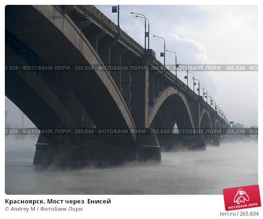 Красноярск. Мост через  Енисей, фото № 265834, снято 25 ноября 2006 г. (c) Andrey M / Фотобанк Лори