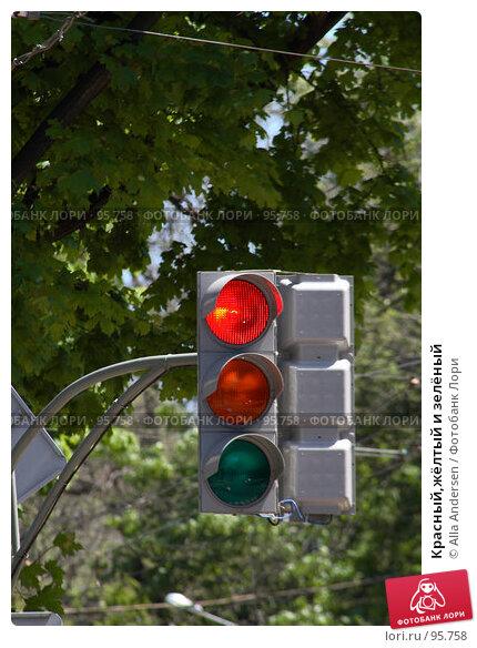 Красный,жёлтый и зелёный, фото № 95758, снято 12 мая 2007 г. (c) Alla Andersen / Фотобанк Лори