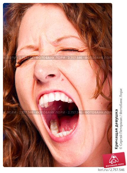 Фото большой женский рот