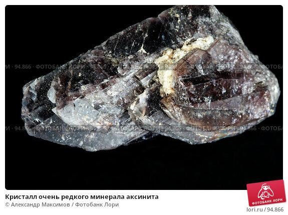 Кристалл очень редкого минерала аксинита, фото № 94866, снято 25 ноября 2006 г. (c) Александр Максимов / Фотобанк Лори