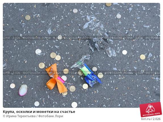 Крупа, осколки и монетки на счастье, эксклюзивное фото № 2026, снято 20 августа 2005 г. (c) Ирина Терентьева / Фотобанк Лори