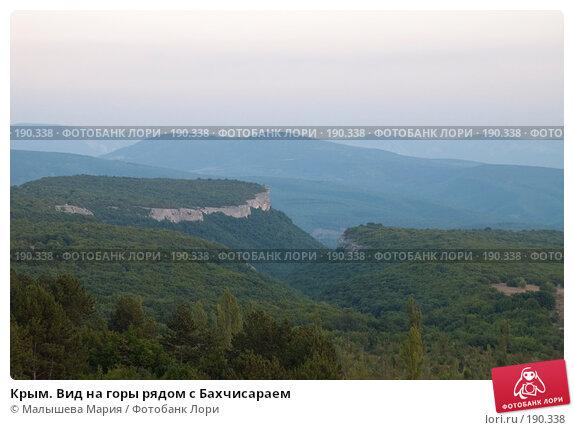 Крым. Вид на горы рядом с Бахчисараем, фото № 190338, снято 30 июля 2007 г. (c) Малышева Мария / Фотобанк Лори
