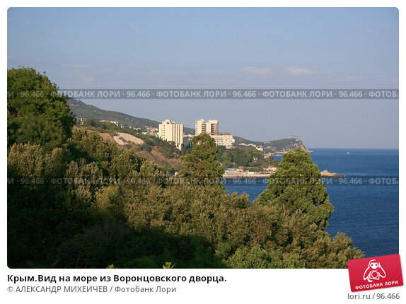 Купить «Крым.Вид на море из Воронцовского дворца.», фото № 96466, снято 14 августа 2007 г. (c) АЛЕКСАНДР МИХЕИЧЕВ / Фотобанк Лори