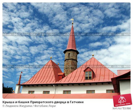 Крыша и башня Приоратского дворца в Гатчине, фото № 53066, снято 11 июня 2007 г. (c) Людмила Жмурина / Фотобанк Лори