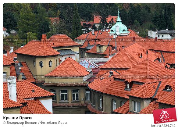 Крыши Праги, фото № 224742, снято 27 октября 2006 г. (c) Владимир Воякин / Фотобанк Лори