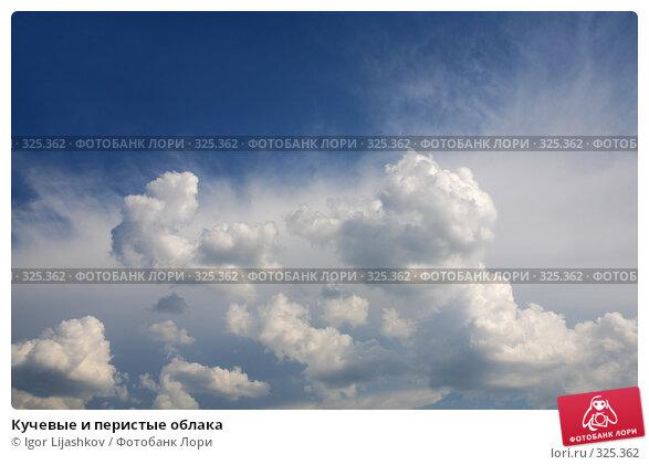 Кучевые и перистые облака, фото № 325362, снято 20 мая 2008 г. (c) Igor Lijashkov / Фотобанк Лори