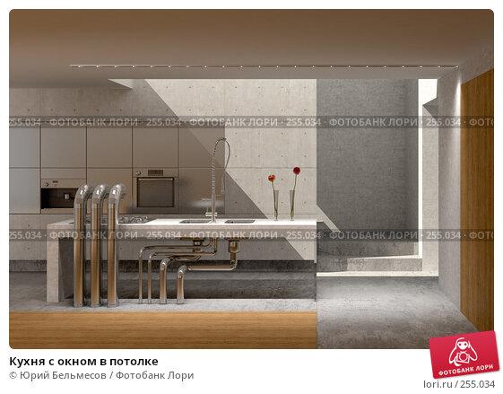 Купить «Кухня с окном в потолке», иллюстрация № 255034 (c) Юрий Бельмесов / Фотобанк Лори