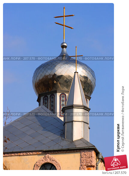 Купол церкви, фото № 207570, снято 22 февраля 2008 г. (c) Сергей Литвиненко / Фотобанк Лори