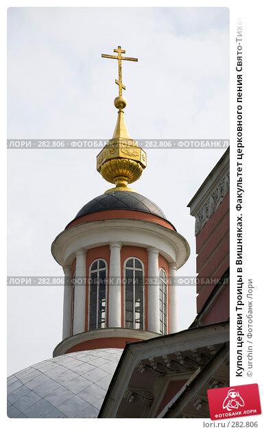 Купол церкви Троицы в Вишняках. Факультет церковного пения Свято-Тихоновского гуманитарного университета, фото № 282806, снято 2 мая 2008 г. (c) urchin / Фотобанк Лори