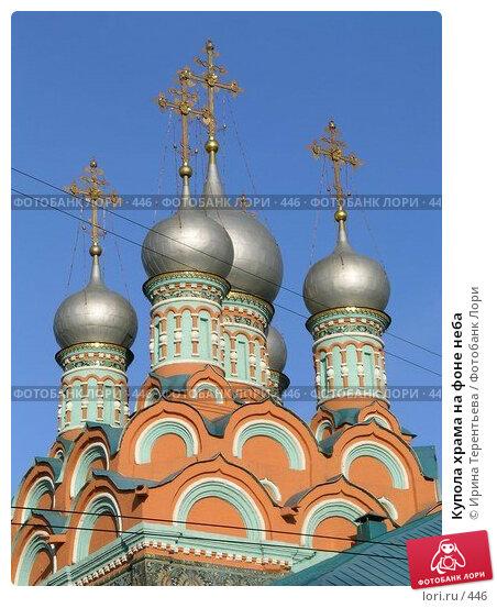 Купола храма на фоне неба, фото № 446, снято 23 апреля 2004 г. (c) Ирина Терентьева / Фотобанк Лори