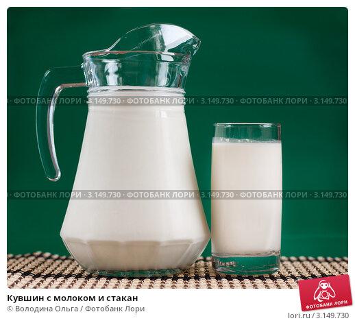 Купить «Кувшин с молоком и стакан», фото № 3149730, снято 16 января 2012 г. (c) Володина Ольга / Фотобанк Лори