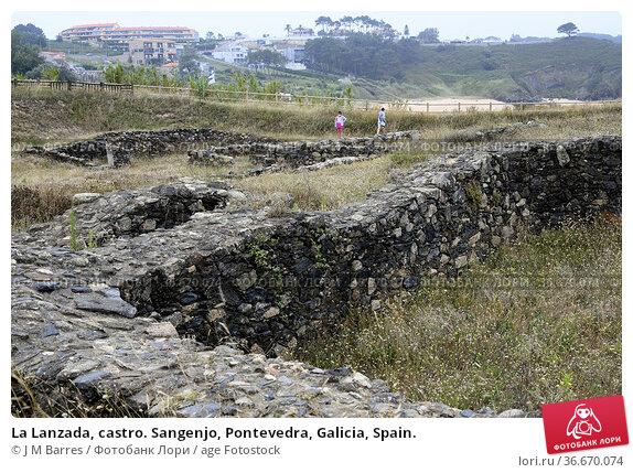 La Lanzada, castro. Sangenjo, Pontevedra, Galicia, Spain. Стоковое фото, фотограф J M Barres / age Fotostock / Фотобанк Лори