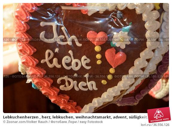 Lebkuchenherzen , herz, lebkuchen, weihnachtsmarkt, advent, süßigkeit... Стоковое фото, фотограф Zoonar.com/Volker Rauch / easy Fotostock / Фотобанк Лори