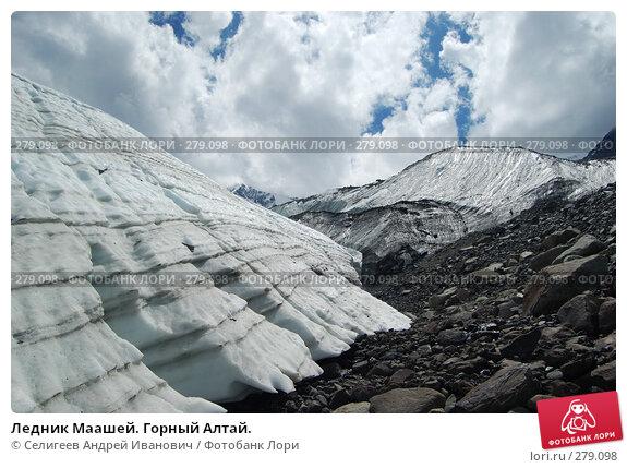 Ледник Маашей. Горный Алтай., фото № 279098, снято 13 июля 2006 г. (c) Селигеев Андрей Иванович / Фотобанк Лори