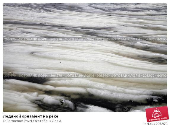Ледяной орнамент на реке, фото № 206970, снято 6 февраля 2008 г. (c) Parmenov Pavel / Фотобанк Лори