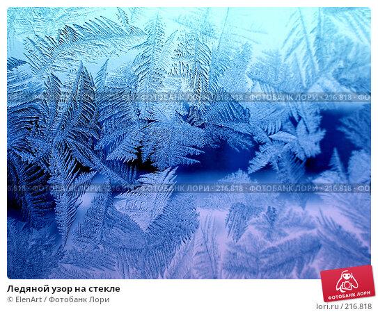Ледяной узор на стекле, фото № 216818, снято 17 января 2017 г. (c) ElenArt / Фотобанк Лори