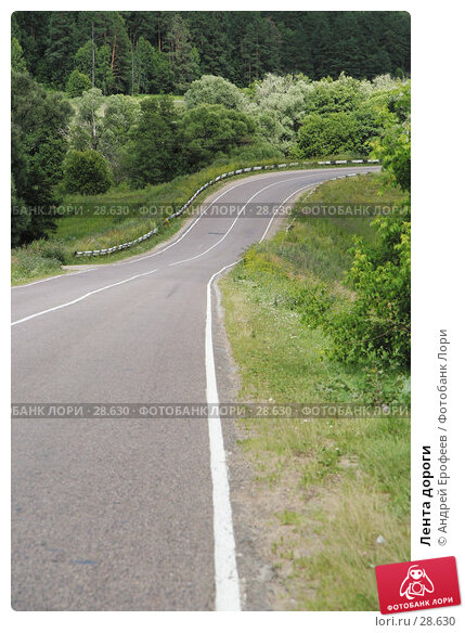 Лента дороги, фото № 28630, снято 20 июля 2006 г. (c) Андрей Ерофеев / Фотобанк Лори