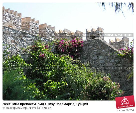 Купить «Лестница крепости, вид снизу. Мармарис, Турция», фото № 6254, снято 12 июля 2006 г. (c) Маргарита Лир / Фотобанк Лори