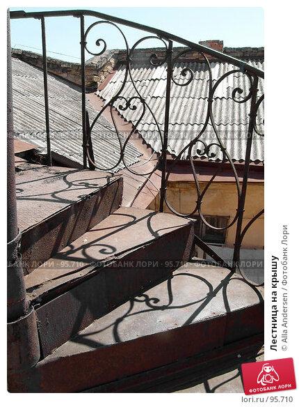 Купить «Лестница на крышу», фото № 95710, снято 21 июля 2006 г. (c) Alla Andersen / Фотобанк Лори