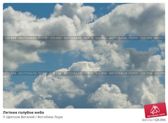 Купить «Летнее голубое небо», фото № 328894, снято 19 июня 2008 г. (c) Цветков Виталий / Фотобанк Лори