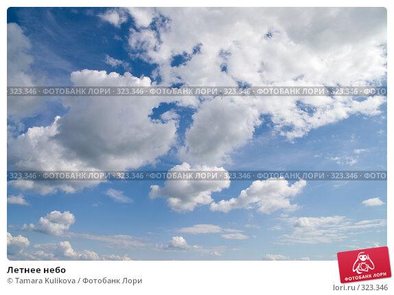 Летнее небо, фото № 323346, снято 15 июня 2008 г. (c) Tamara Kulikova / Фотобанк Лори