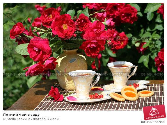 Летний чай в саду, фото № 135946, снято 27 июня 2007 г. (c) Елена Блохина / Фотобанк Лори