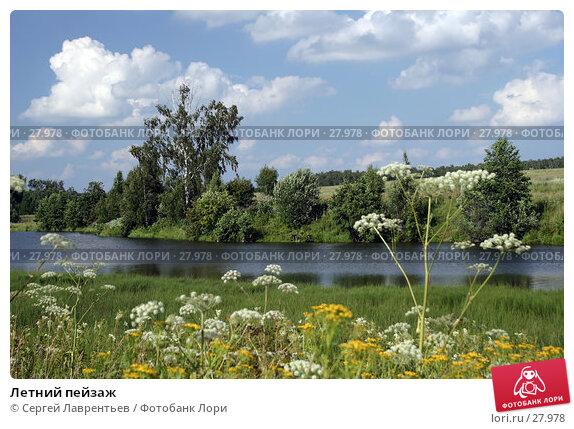 Купить «Летний пейзаж», фото № 27978, снято 22 июля 2005 г. (c) Сергей Лаврентьев / Фотобанк Лори
