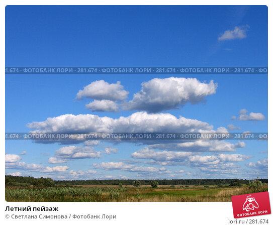 Купить «Летний пейзаж», фото № 281674, снято 2 сентября 2007 г. (c) Светлана Симонова / Фотобанк Лори