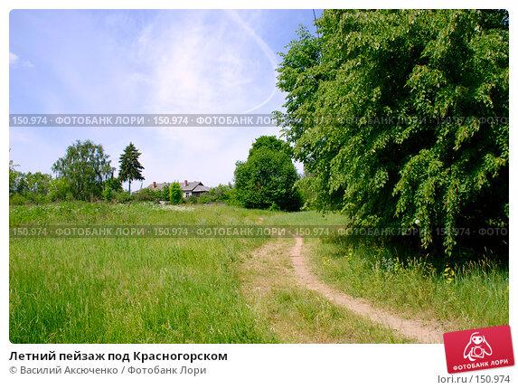 Летний пейзаж под Красногорском, фото № 150974, снято 11 июня 2007 г. (c) Василий Аксюченко / Фотобанк Лори