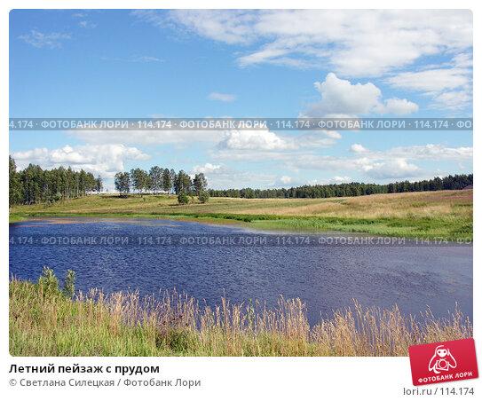 Летний пейзаж с прудом, фото № 114174, снято 21 июля 2007 г. (c) Светлана Силецкая / Фотобанк Лори