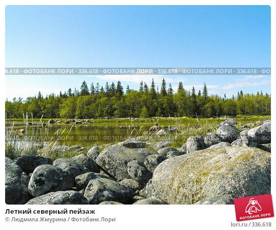 Летний северный пейзаж, фото № 336618, снято 20 июня 2008 г. (c) Людмила Жмурина / Фотобанк Лори