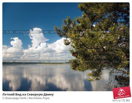 Летний Вид на Северную Двину, фото № 72382, снято 1 июля 2007 г. (c) Александр Fanfo / Фотобанк Лори