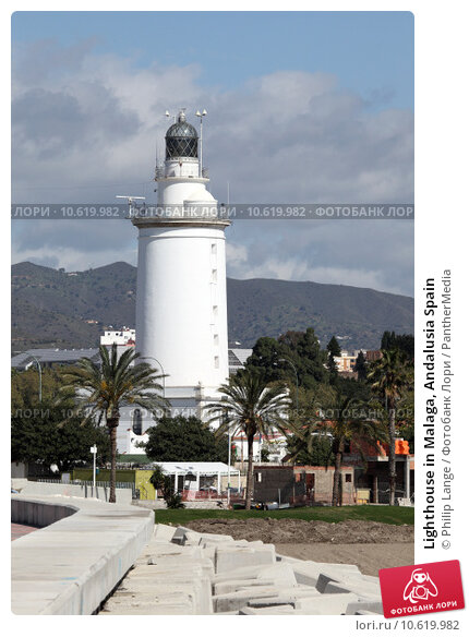 Lighthouse in Malaga, Andalusia Spain. Стоковое фото, фотограф Philip Lange / PantherMedia / Фотобанк Лори