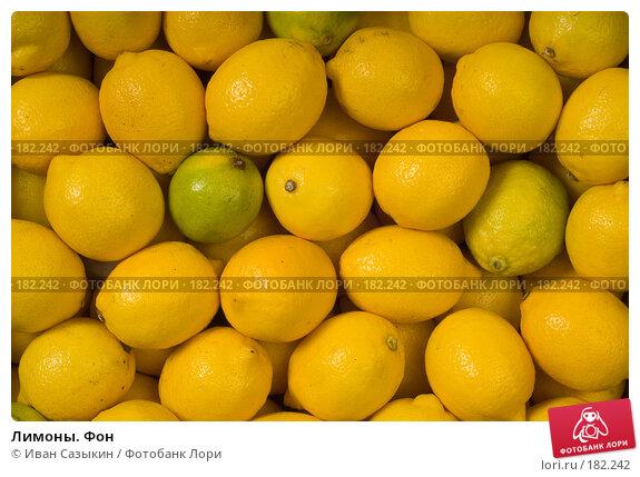 Купить «Лимоны. Фон», фото № 182242, снято 30 июля 2003 г. (c) Иван Сазыкин / Фотобанк Лори