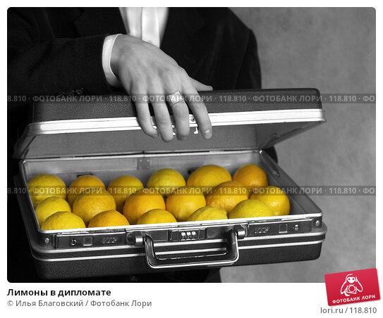 Лимоны в дипломате, фото № 118810, снято 25 июля 2017 г. (c) Илья Благовский / Фотобанк Лори