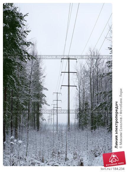 Линия электропередач, фото № 184234, снято 22 января 2008 г. (c) Максим Соколов / Фотобанк Лори