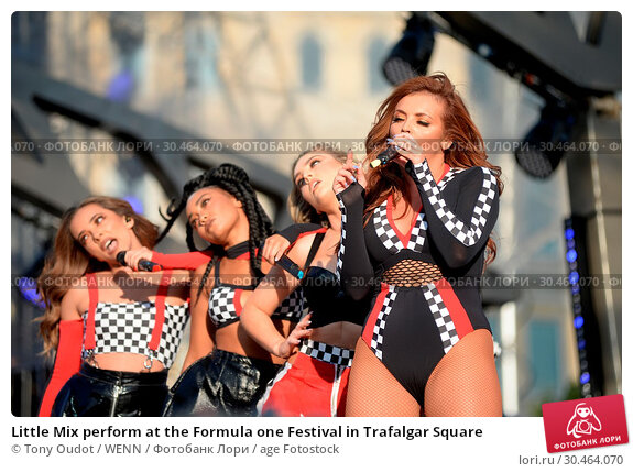 Little Mix perform at the Formula one Festival in Trafalgar Square (2017 год). Редакционное фото, фотограф Tony Oudot / WENN / age Fotostock / Фотобанк Лори